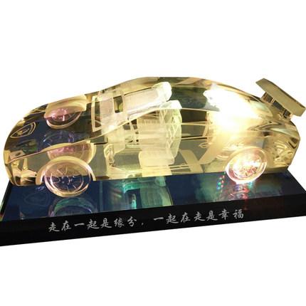 创意DIY个性定制水晶车模