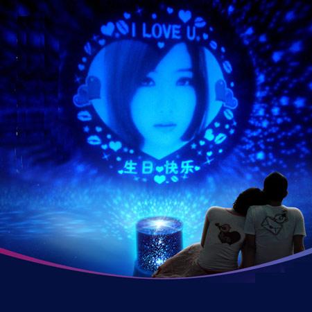 LED浪漫旋转音乐星空投影灯