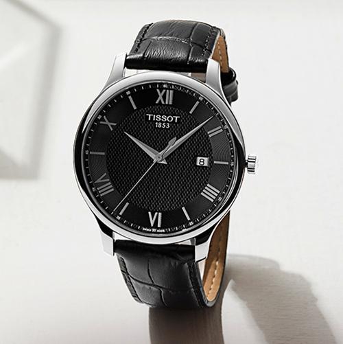 Tissot天梭正品俊雅石英皮带手表