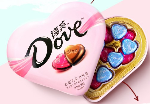 德芙巧克力牛奶夹心礼盒装