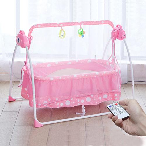 婴儿安抚哄睡电动摇篮
