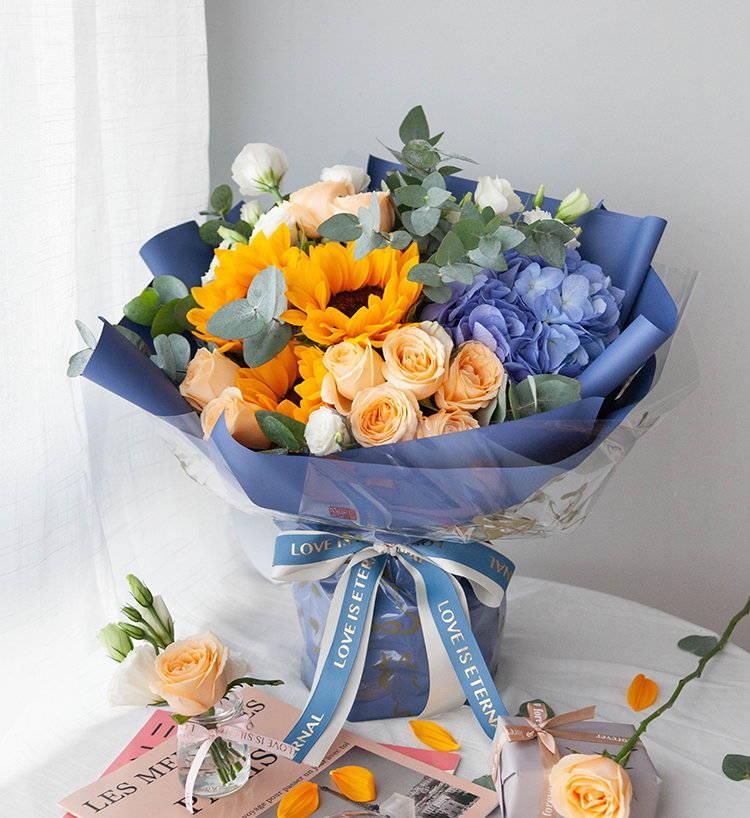 想给中考后的孩子送鲜花,哪