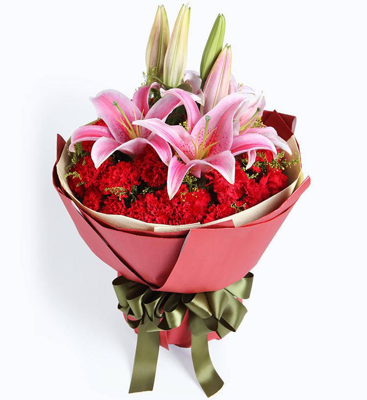 元宵节给爸爸妈妈送鲜花,祝爸爸妈妈康寿