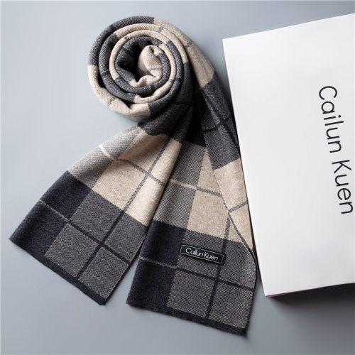 秋冬季新款男士羊毛毛绒针织围巾保暖围脖商务