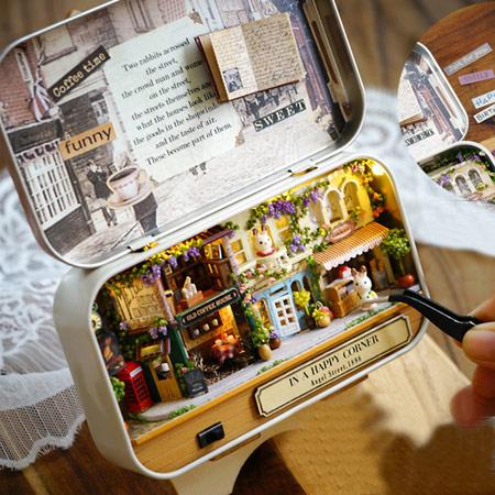 diy童话屋盒子剧场手工制作小房子拼装模型玩