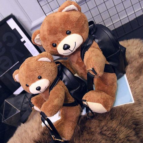 讨人喜欢泰迪熊儿童书包
