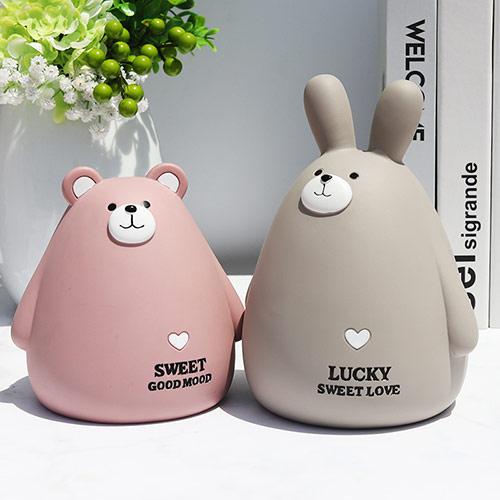 卡通兔子存钱罐儿童储蓄罐可爱摆