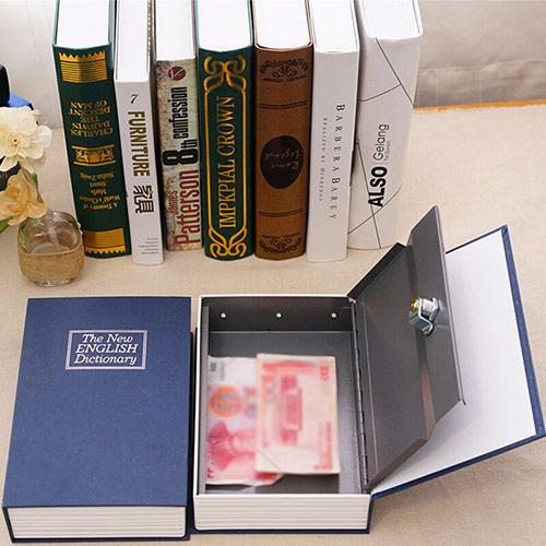 书本存钱罐保险箱密码盒子带锁家