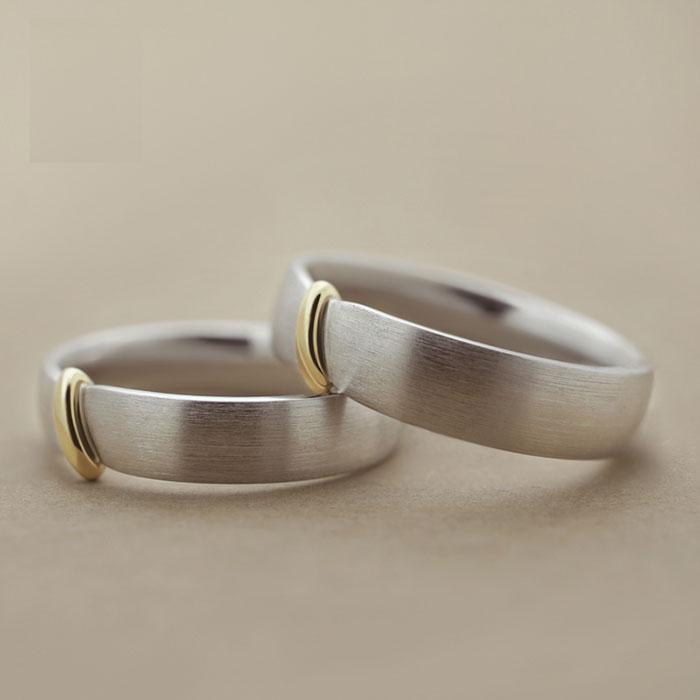 结发银镀铂金戒指