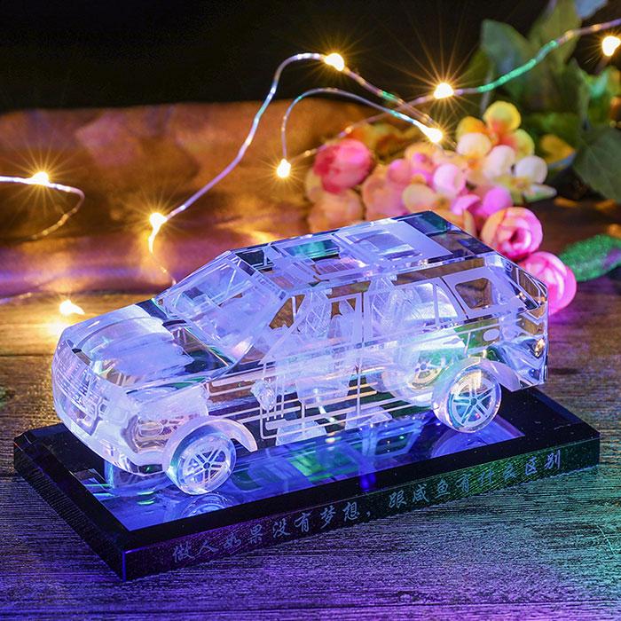 发光水晶车模定制