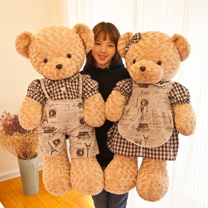 婚庆泰迪熊压床公仔一对情侣抱抱熊玩偶结婚