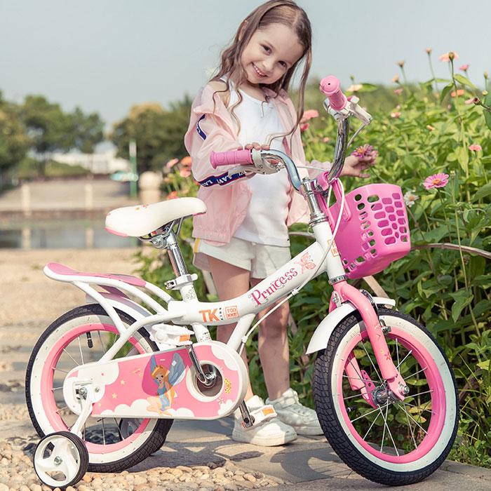 儿童自行车公主粉脚踏车