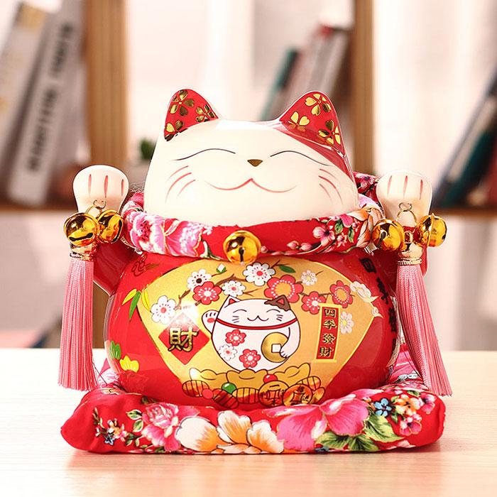 招财猫小摆件日系风存钱罐家居客