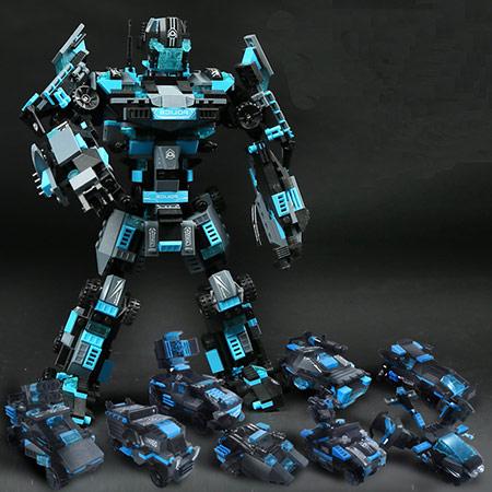 迷你特工队拼装益智机器人玩具儿童男孩乐高